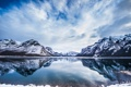 Картинка зима, снег, горы, озеро, Banff National Park