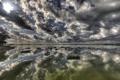 Картинка лодки, небосвод, отображение
