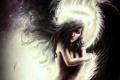 Картинка девушка, крылья, ангел, черные