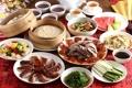 Картинка мясо, тайваньская кухня, креветки, соус, утка, овощи, чай