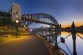 Картинка небо, закат, мост, Австралия, Сидней