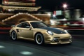 Картинка китайкий храм, Porsche, огни ночного города, 911, порше, суперкар, Turbo S