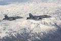 Картинка пейзаж, истребители, полёт, Hornet, CF-18