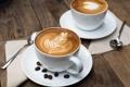 Картинка узор, капучино, кофейные зерна, пенка, салфетка, ложки