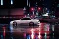 Картинка ночь, город, тюнинг, купе, лексус, stance, lexus sc 400