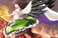 Картинка девушка, огонь, магия, крылья, reiuji utsuho, touhou