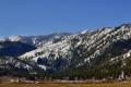 Картинка лес, небо, снег, горы, фото, весна