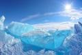 Картинка лед, айсберг, ice, север, winter, snow, sun