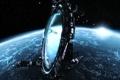 Картинка космос, планета, врата, X3 Terran Conflict
