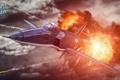 Картинка самолет, огонь, aviation, авиа, MMO, Wargaming.net, World of Warplanes