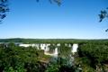 Картинка брызги, деревья, водопад, зелень, Катаратас дель Игуасу, листва
