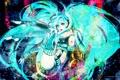 Картинка девушка, абстракция, стиль, аниме, арт, vocaloid, hatsune miku