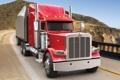 Картинка дорога, небо, берег, грузовик, передок, truck, тягач
