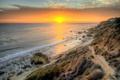 Картинка море, пляж, солнце, облака, закат, природа, фото