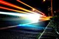 Картинка след от фар, фонари, дорога, огни