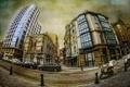 Картинка город, стиль, фон, улица, дома