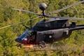 Картинка fire, helicopter, Bell, Army, OH-58, Kiowa, Minigun