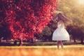 Картинка танец, платье, мыльные пузыри, девочка
