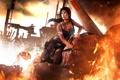 Картинка огонь, lara croft, tomb raider, reborn