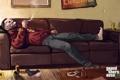 Картинка диван, дым, травка, курит, gta 4, Grand Theft Auto IV, Джейкоб