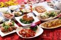 Картинка зелень, чай, мясо, морепродукты, tea, сервировка, meat