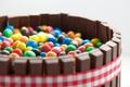 Картинка цветные, шоколадные, корзинка, разные, конфеты, M&M's, лента