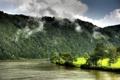 Картинка природа, река, Горы, Австрия, Hofkirchen