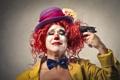Картинка пистолет, шляпа, клоун, лук, самоубийство, gun, sad