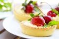 Картинка ягоды, клубника, пирожное, тарталетка