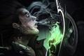 Картинка Wizard, Malthael, битва, татуировки, рука, арт, Diablo 3