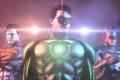 Картинка свет, batman, superman, green lantern, лазерный целеуказатель