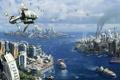 Картинка острова, города, цивилизация, ANNO 2070