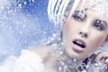 Картинка взгляд, девушка, снег, украшения