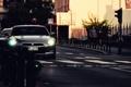 Картинка R35, город, Nissan GTR, вечер