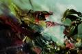 Картинка фрагмент, оттенки, узор, цвета. надпись, абстракция, арт, рисунок