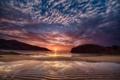 Картинка пляж, океан, скалы, рассвет