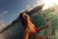 Картинка грудь, мокрая, девушка, серфинг, волна