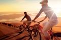 Картинка дорога, природа, велосипедисты