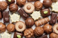 Картинка шоколад, chocolate, ассорти, шоколадные конфеты, пралине
