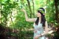 Картинка девушка, бабочки, настроение