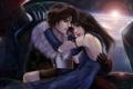 Картинка девушка, любовь, парень, объятие, Squall, Final Fantasy VIII, Rinoa