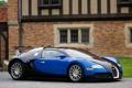 Картинка Синий, Машина, Бугатти, Bugatti, Вейрон, Машины, Veyron