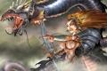 Картинка дракон, колдунья, шаманка, RB White