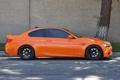 Картинка дорога, оранжевый, дерево, bmw, профиль, orange, e92