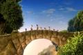 Картинка деревья, мост, мультфильм, гномы, приключение, 7-ой гном, Der 7bte Zwerg