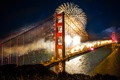 Картинка ночь, мост, город, праздник
