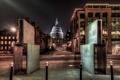 Картинка ночь, Англия, Лондон, night, London, England, st pauls cathedral