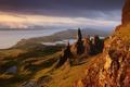 Картинка море, небо, облака, горы, Шотландия, Scotland, Isle of Skye