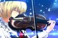 Картинка девушка, скрипка, арт, профиль, touhou, музыкальный инструмент, nekominase