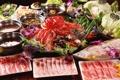 Картинка суп, грибы, морепродукты, креветки, бекон, салат, японская кухня